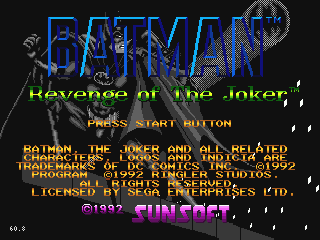 Batman: Revenge Of The Jo...