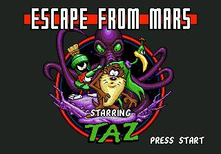 Escape From Mars Starring...